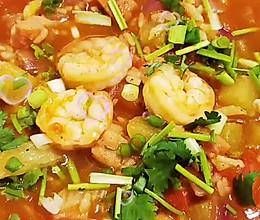#助力高考营养餐#鲜香开胃的番茄虾仁烩米饭