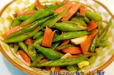 四季豆炒火腿