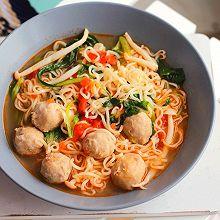 #母亲节,给妈妈做道菜#西红柿肉丸面