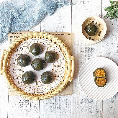 蛋黄肉松艾草团