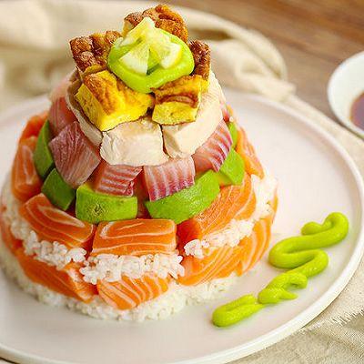豪华寿司塔|太阳猫早餐