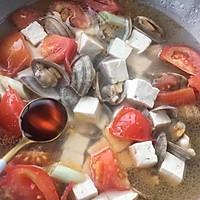 西红柿蛤蜊豆腐汤的做法图解9