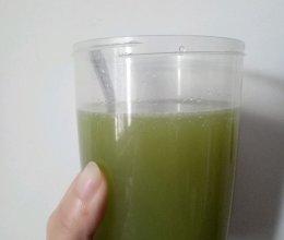 抗衰排毒青汁的做法