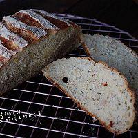 亚麻籽麦片乡村面包#跨界烤箱 探索味来#
