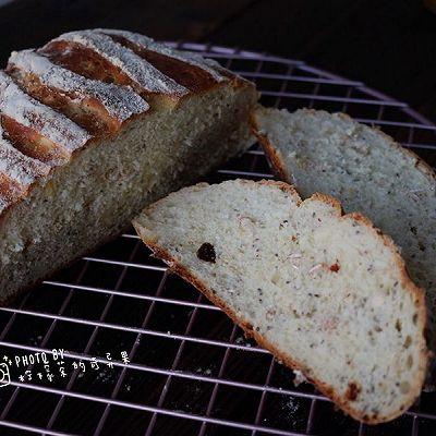亚麻籽麦片乡村面包