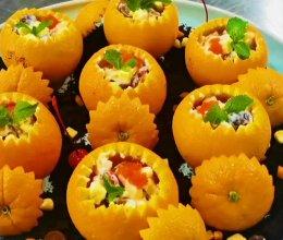 橙香鱼子酱水果沙律的做法