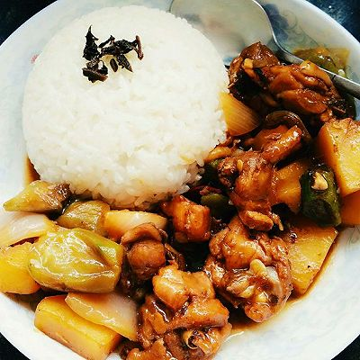 黄焖鸡米饭家庭版
