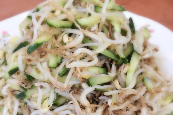 豆芽拌黄瓜的做法