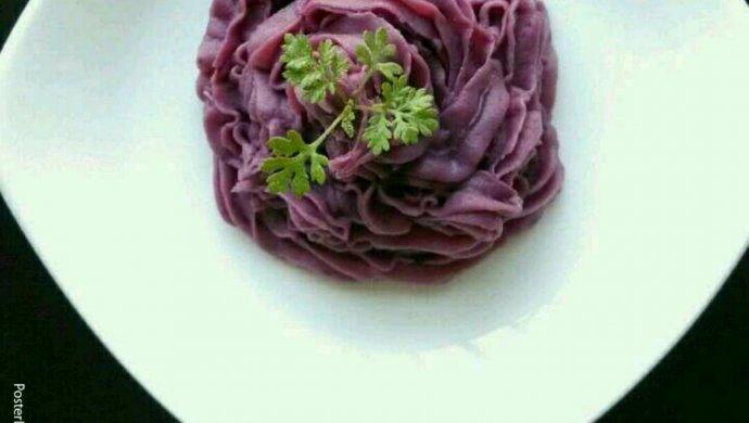 奶油紫薯泥