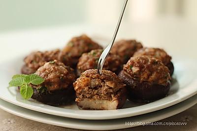 ~香菇酿肉~鲜嫩多汁的美味烤箱菜