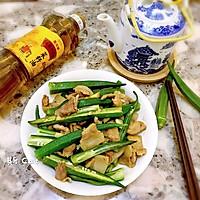 秋葵炒花肉#金龙鱼外婆乡小榨菜籽油 最强家乡菜#