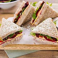 #夏天冰品不能少#简单早餐~三明治