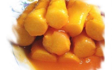 橙汁山药的做法