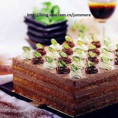 巧克力方形慕斯蛋糕