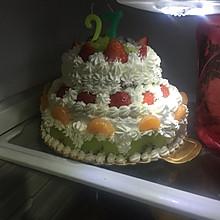 双层水果生日蛋糕