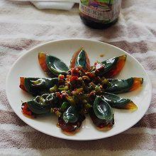 豆瓣青椒拌皮蛋#菁选酱油试用#