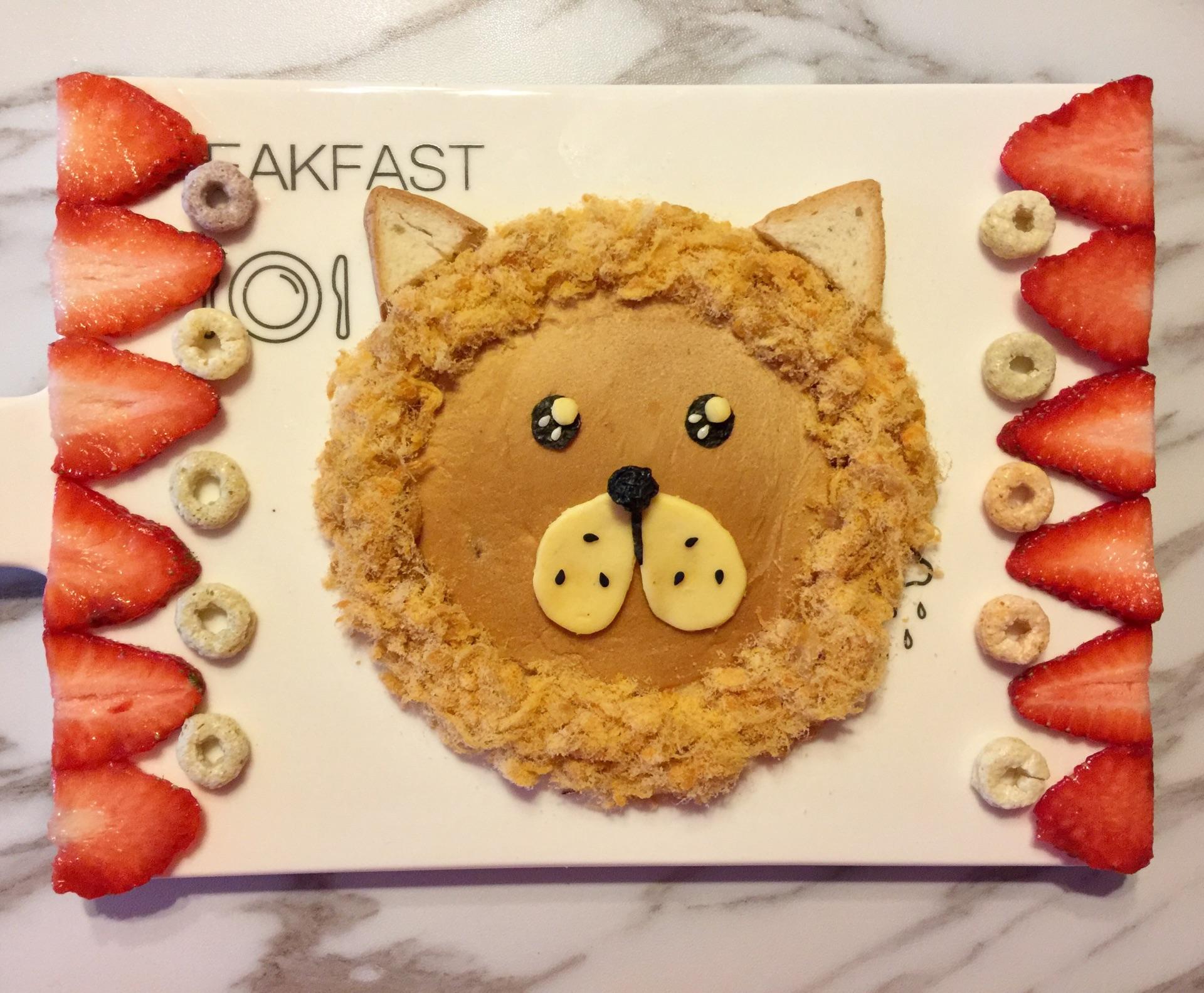 儿童早餐—狮子吐司的做法图解8