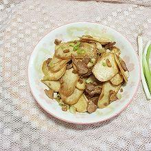 茭白炒肉片