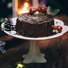 #令人羡慕的圣诞大餐#圣诞树桩蛋糕