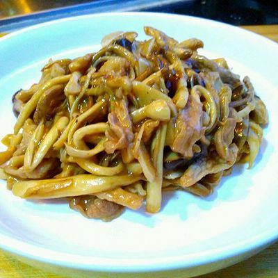 孜然菌菇小炒肉
