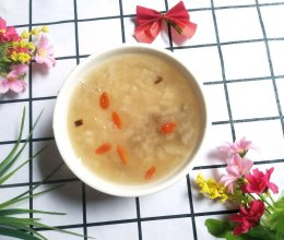 #今天吃什么#雪梨陈皮枸杞粥的做法