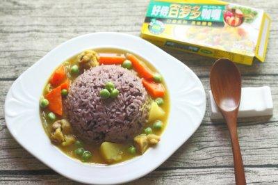 红萝卜土豆鸡肉咖喱饭