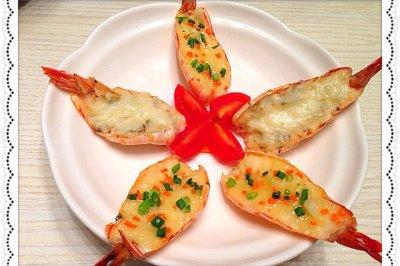 双拼大虾(奶酪焗+蒜蓉黄油烤)