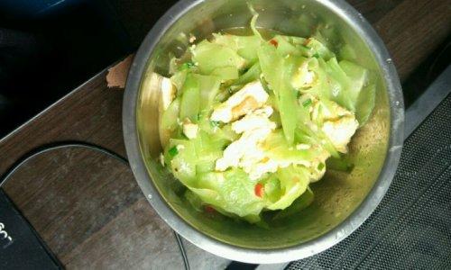 莴笋炒鸡蛋的做法