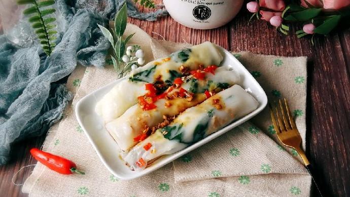 #硬核菜谱制作人#肉粒菠菜肠粉