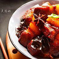 过年大菜-木耳魔芋红烧肉#盛世锦食・忆年味#的做法图解8