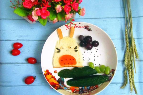 可爱的龙猫吐司#柏萃辅食节-营养佐餐