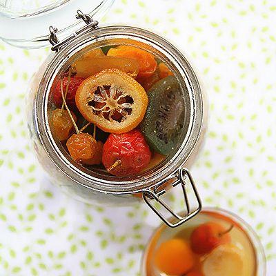 秋季润喉果茶