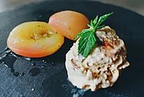 水煮桃子配坚果冰淇淋【安卡西厨】的做法