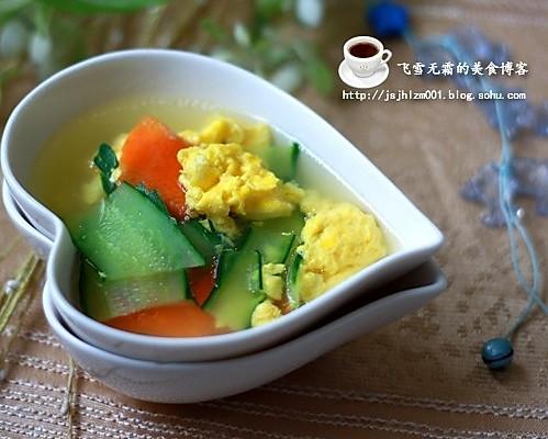 减肥美容佳品:黄瓜鸡蛋汤的做法