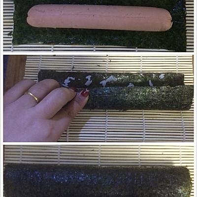 花样寿司---方型火腿花瓜鸡蛋卷的做法 步骤3