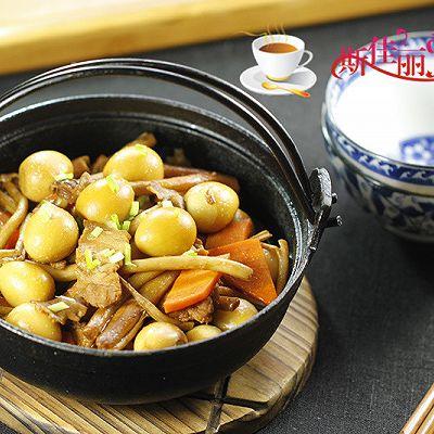 茶树菇烧鹌鹑蛋