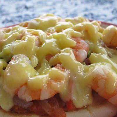 平底锅版鲜虾披萨+培根披萨+披萨酱