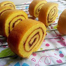 蓝莓酱蛋糕卷+#豆果5周年#