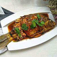 红烧鲫鱼#金龙鱼营养强化维生素A  新派菜油#的做法图解11