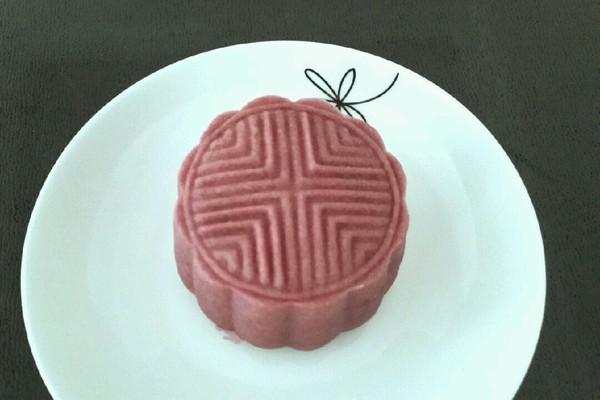 紫薯桃山皮月饼的做法