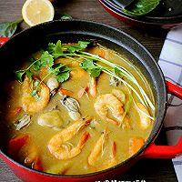 咖喱鲜虾牡蛎锅的做法图解16