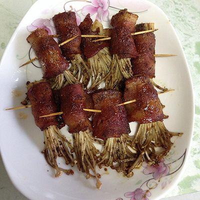 培根金针菇的做法 步骤5