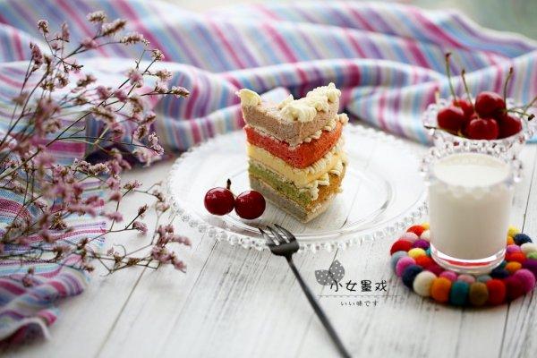 多彩假期~彩虹蛋糕的做法