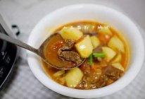 一汤可以两吃的土豆番茄牛腩汤的做法