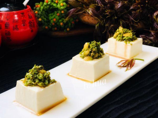 凉拌香椿松子豆腐 净素食的做法