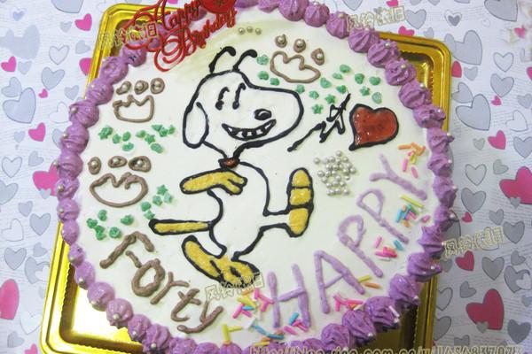 史努比生日蛋糕的做法_菜谱_豆果美食
