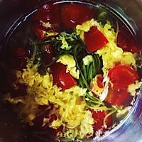 超简单:番茄鸡蛋银鱼辣木叶面