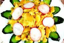 【快手早餐】黄瓜炒杂粮蛋饼的做法
