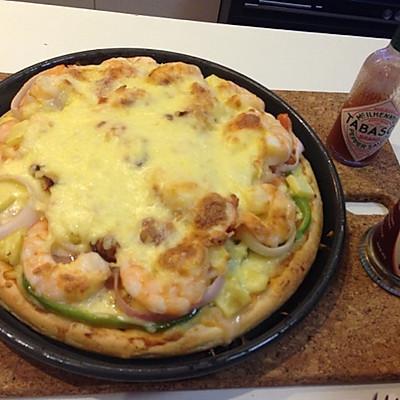 海鲜大虾至尊披萨