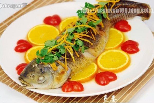 橙香草鱼的做法